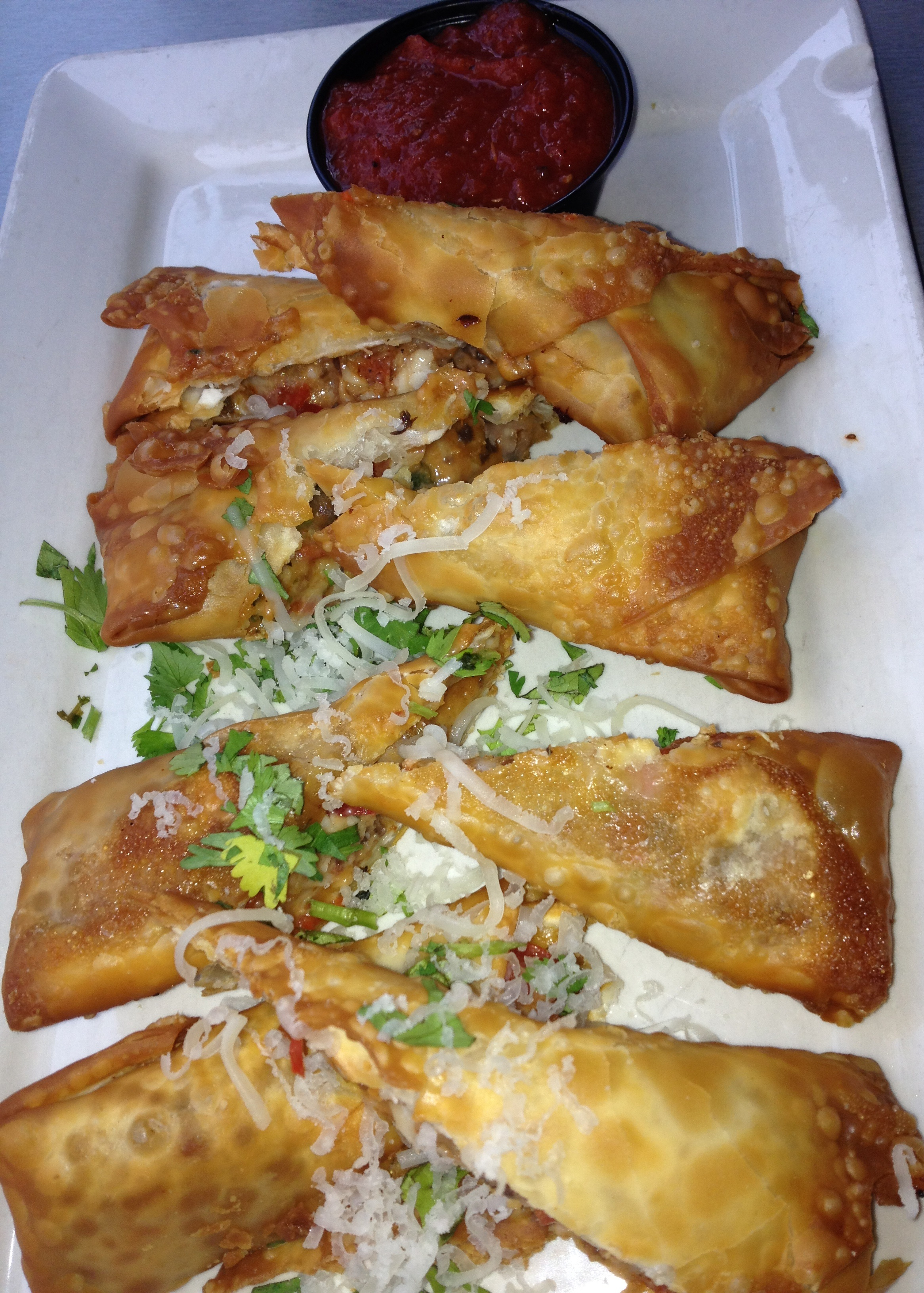 Pizza Spring Rolls